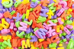 Colorful foam letters Stock Photo