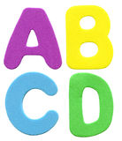 Colorful foam letters Stock Photography