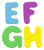 Colorful foam letters Royalty Free Stock Image