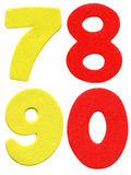 Colorful foam numbers Stock Image