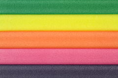 Colorful foam rubber Royalty Free Stock Photos
