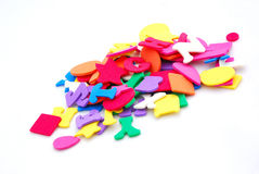 Colorful foam shapes Royalty Free Stock Photo