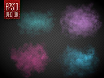 Colorful fog or smoke isolated, transparent special effect. Vector illustration