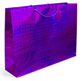 Colorful foil shopping bag Stock Photo