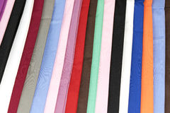 Colorful Fold the fabric stacked fashion abstract background Stock Photos