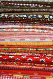 Colorful folded fabric Stock Images