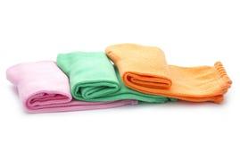 Socks. Colorful folded socks isolated on white background Royalty Free Stock Photo