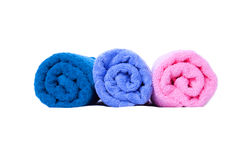 Colorful folded towels Royalty Free Stock Images