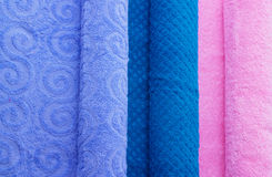 Colorful folded towels Stock Images