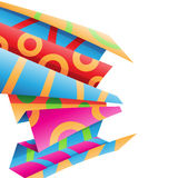 Colorful Folded Wrapping Paper Stock Illustration Royalty Free Stock Photography