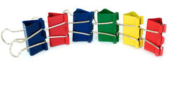 Colorful folder clips Royalty Free Stock Image
