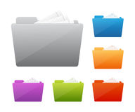 Colorful folder icon Stock Photo