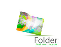 Colorful folder symbol concepts Royalty Free Stock Photography