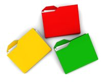 Colorful folder symbols Stock Photo