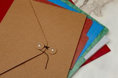 Colorful folders Royalty Free Stock Image
