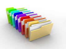 Colorful folders Royalty Free Stock Photography