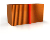 Colorful folders for documents in a row Royalty Free Stock Photo