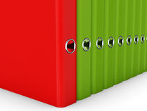 Colorful folders for documents in a row Royalty Free Stock Photography