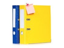 Colorful folders Stock Image