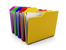 Colorful folders stack Stock Photos