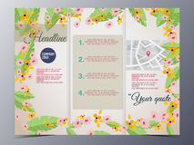 Colorful foliage graphic style brochure template Royalty Free Stock Photos