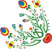 Colorful folk flowers royalty free illustration