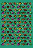 Colorful folk retro flower ethnic collection on modern green background. Colorful folk retro floral ethnic collection on modern green background vector illustration