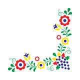 Colorful folklore ornament isolated on a white background Royalty Free Stock Images