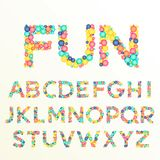 Colorful font and alphabet letters, best for fun celebration sty. Les Royalty Free Stock Photos