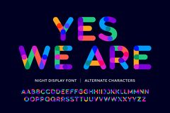 Colorful font. Colorful bright alphabet and font Royalty Free Stock Image