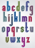 Colorful font, comic solid lower case letters Royalty Free Stock Images