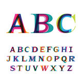 The colorful font consisting of three letters Stock Photography