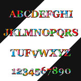 Colorful  font and numbers. Royalty Free Stock Images
