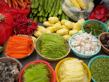 Colorful Food. Colorful and healthy vegetables in the streets of Lhasa Tibet Royalty Free Stock Photography