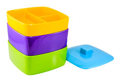 Colorful Food Carrier. On White Background Royalty Free Stock Photography