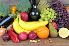 Colorful food, Fruits and vegetables Royalty Free Stock Photography