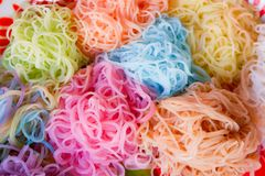 Colorful food noodle Stock Image