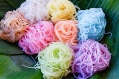 Colorful noodle Royalty Free Stock Images