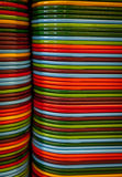 Colorful food trays Stock Image