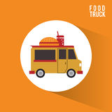Colorful food truck design Royalty Free Stock Photos