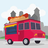Colorful food truck design Royalty Free Stock Photo