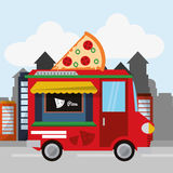 Colorful food truck design Royalty Free Stock Photography