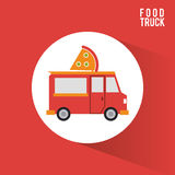 Colorful food truck design Royalty Free Stock Images
