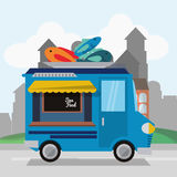 Colorful food truck design Stock Photos