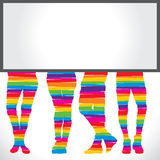 Colorful foot  background Stock Image