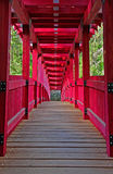 Colorful Foot Bridge Stock Photography