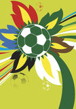 Colorful football. Abstract vector background Stock Photo