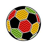 Colorful football ball Stock Images