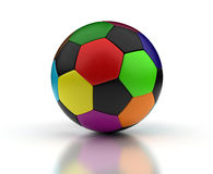 Colorful Football Stock Photography