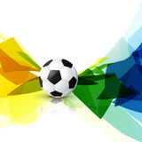 Colorful football design. Colorful abstract football design background Royalty Free Stock Photo